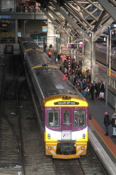PTV liveried Sprinter 7012 at Southern Cross platform 7