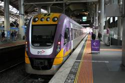 VLocity VL03 ready to from a Traralgon service at Southern Cross platform 15
