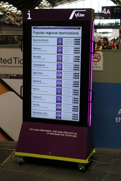 Cobblebank now features on the 'Popular regional destinations' sign at Southern Cross Station