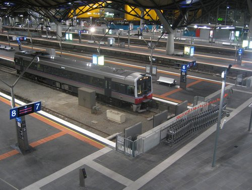 Last train at Southern Cross