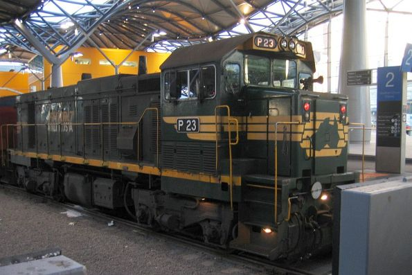 Freight Australia's P23 on a push pull train with P11