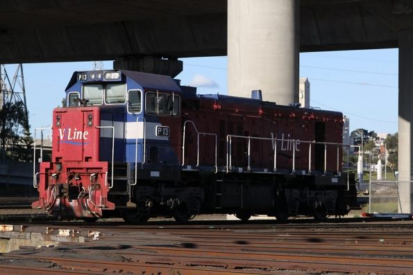 P13 all alone stabled beside the SG turntable at South Dynon