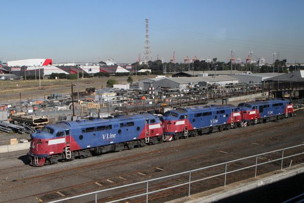 A60, A62 and A70 stored at the Wagon Storage Yard