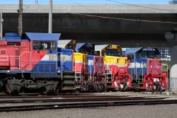 P18, P12, P16, P15 and P14 stabled around the South Dynon turntable