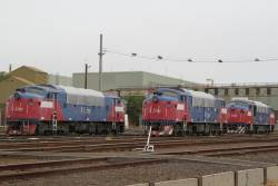 A60, A62 and A70 stored under tarps at South Dynon