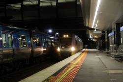 VLocity 3VL33 leads an up Geelong service into Footscray platform 5