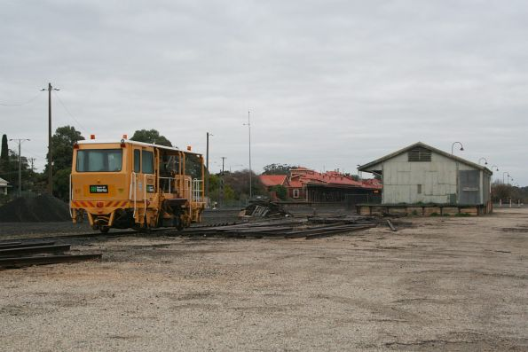 Ballast compactor RTC3001 stabled in the yard at Seymour