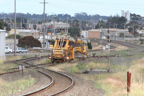 Ballast tamper and regulator head for Ballarat at North Geelong C