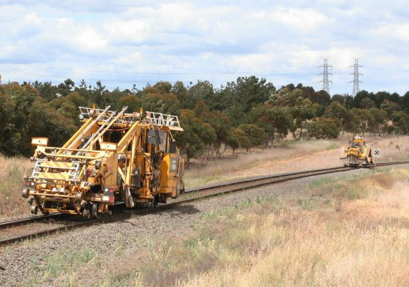 Ballast tamper and regulator head for Ballarat at Moorabool