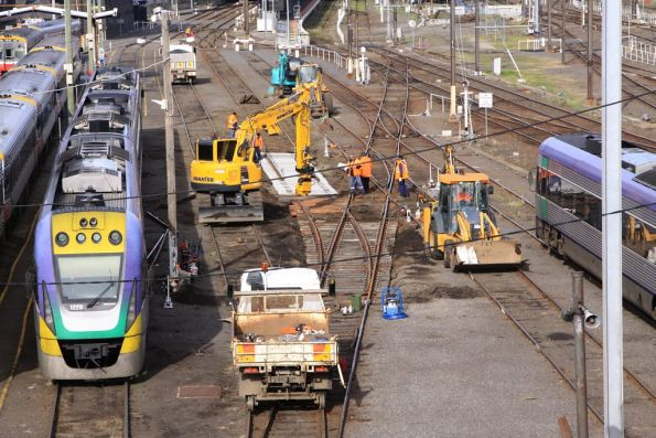 Replacing a set of points in the Bank Sidings at Southern Cross