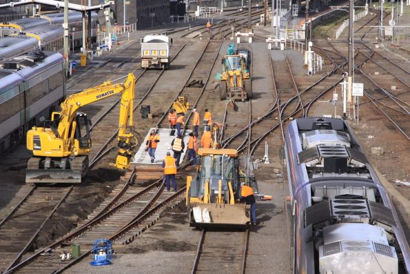 A bit of track relaying also going in the Bank Sidings at Southern Cross