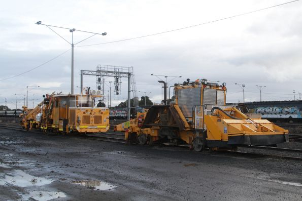 McConnell Dowell owned track machines stabled at North Geelong Yard