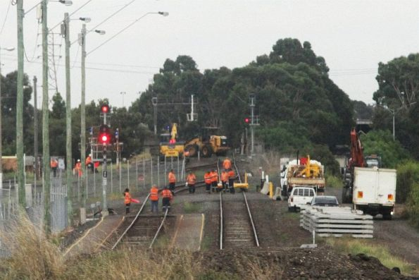 Track work on the goods lines at North Dynon