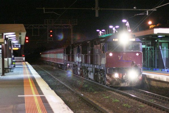 Double N classes take an empty N set to Geelong through Werribee