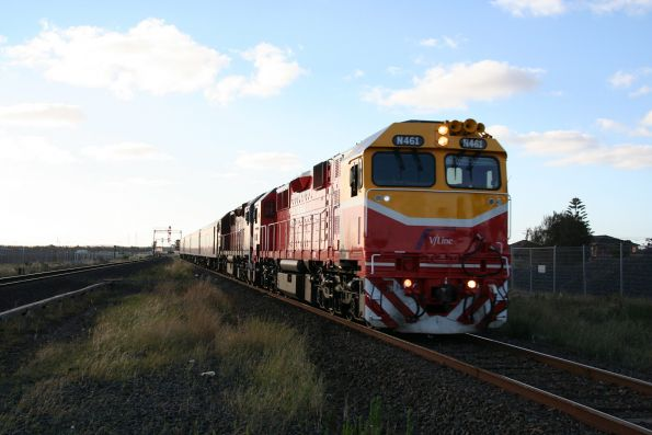 N461 leads another N class through Deer Park on an empty car run from Bacchus Marsh
