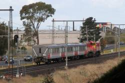 P12 and P17 lead carriage set SH35 set from Bendigo Workshops to Southern Cross at Ginifer