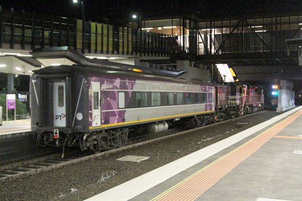 N466, Y163 and carriage BZN271 at Sunshine on a transfer to the SSR workshops at Bendigo