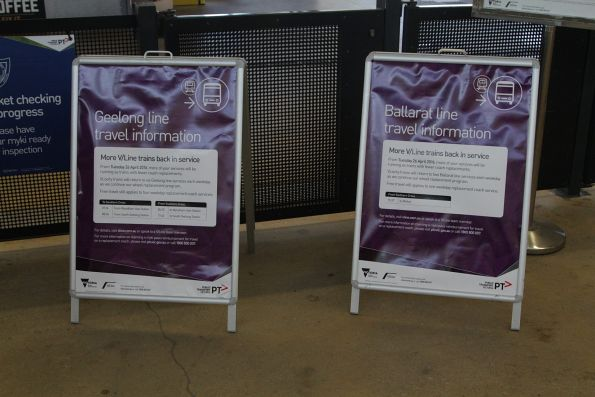 'More V/Line trains back in service' notice