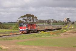 N451 heads the up Warrnambool towards Marshall