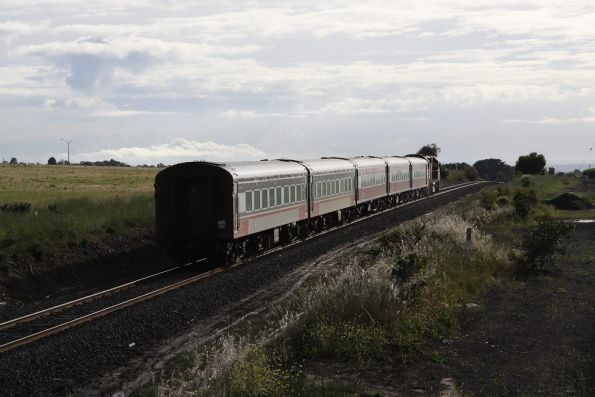N472 leads the up Warrnambool past future houses on the paddocks at Grovedale