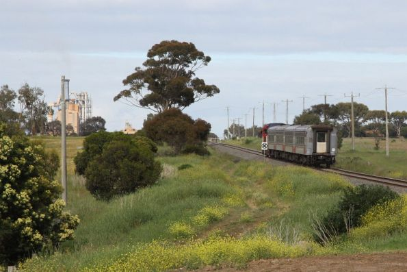 N451 leads the down Warrnambool service towards the Waurn Ponds cement works