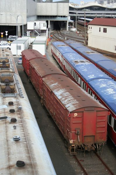 Three D vans stabled in the carriage yard
