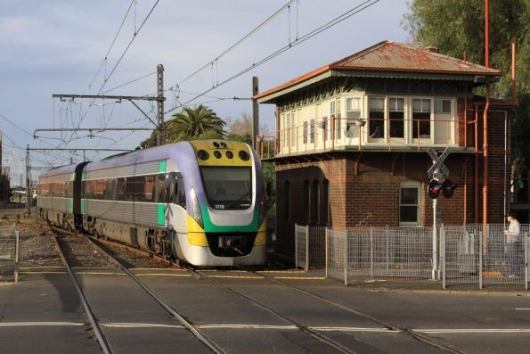 VLocity 3VL19 heads back to Southern Cross, having changed ends at Kensington