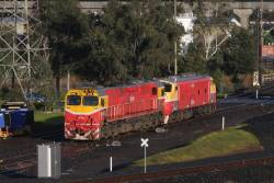 N451 and A66 on a light engine movement between Southern Cross and South Dynon