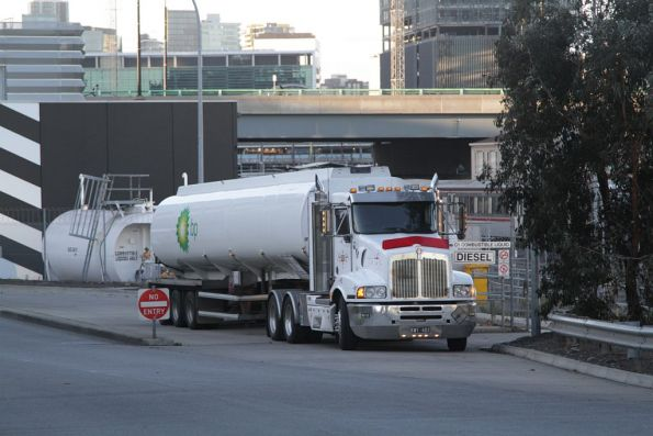 BP tanker filling up the diesel tanks at Southern Cross Station