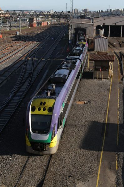 VLocity VL08 emerges from the train wash at West Melbourne