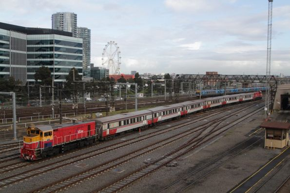 P11 trails an empty car move out of Southern Cross