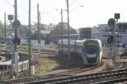 Driver of VLocity VL26 changes ends on the goods lines at North Dynon