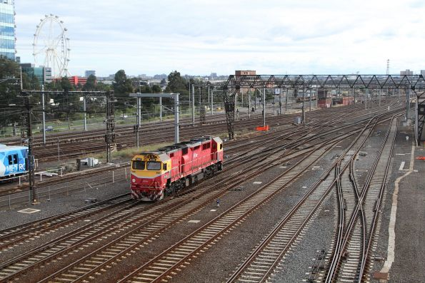 N459 departs Southern Cross light engine