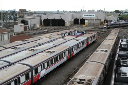 Five H sets stabled for the weekend at Dudley Street