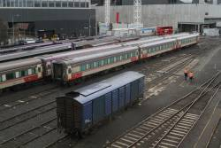 PH power van stabled in the yard at Southern Cross