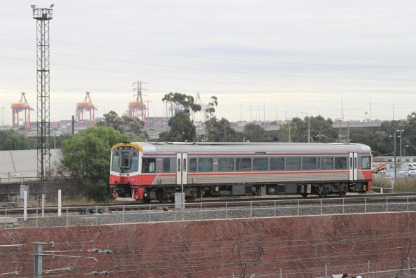 Sprinter 7001 heads solo across the North Melbourne flyover bound for South Dynon