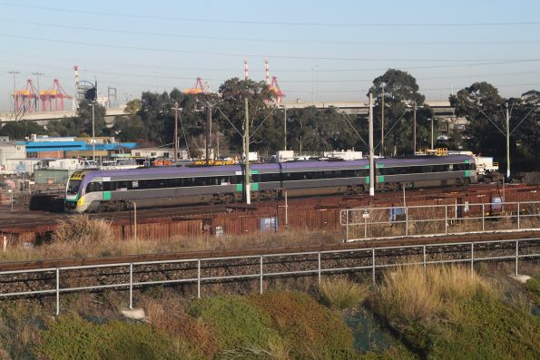 VLocity train stabled in the Wagon Storage Yard at North Melbourne