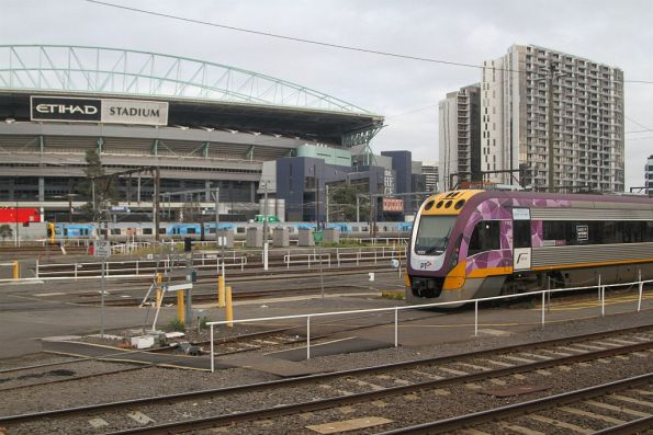 VLocity VL01 stabled in the railcar sidings at Southern Cross