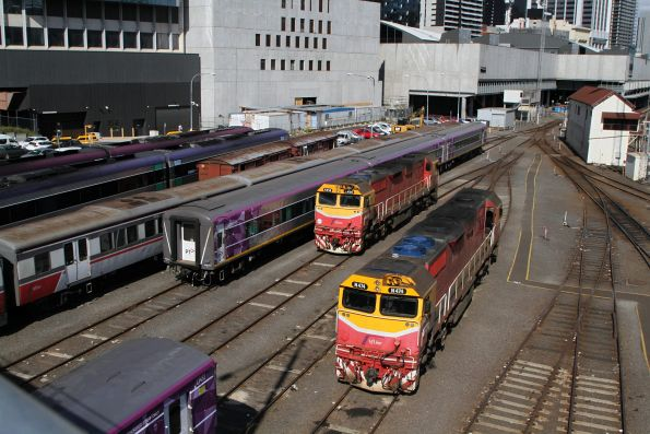 N474 and N456 stabled in the Bank Sidings at Southern Cross
