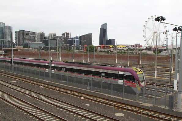 VLocity VL45 arrives at the Melbourne Yard arrivals roads