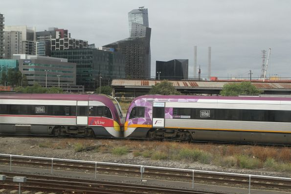 VLocity VL45 and VL57 head for the sidings at West Tower