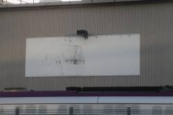 Faded Bombardier signage at the West Melbourne Depot