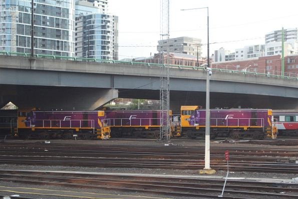 Three our of four V/Line Y classes at Southern Cross Station