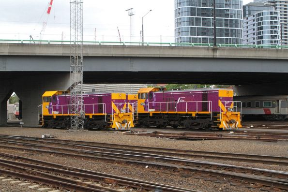 Y161 and Y163 stabled at Southern Cross