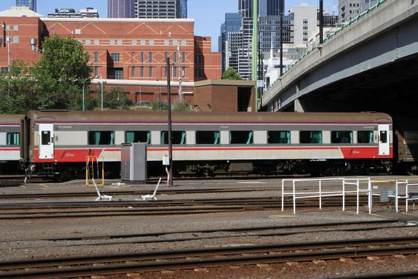 BTN268 with fresh looking bogies stabled in the yard at Southern Cross