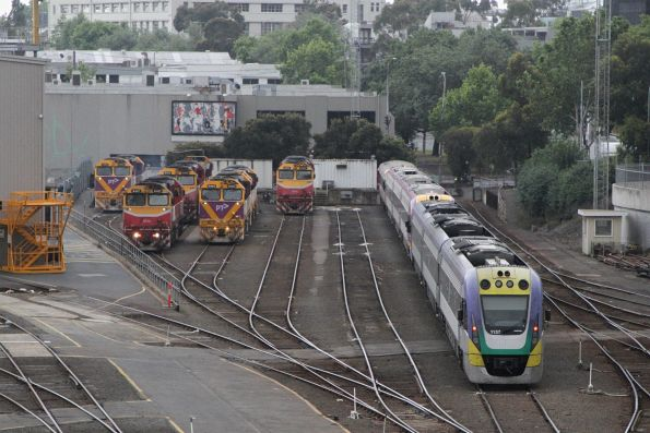 N classes stabled with VLocity VL37 at Dudley Street