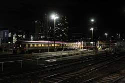 VLocity VL47 and Sprinter in the railcar sidings at Southern Cross