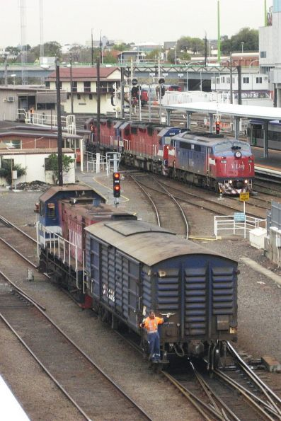 Shunting a PH power van around Southern Cross