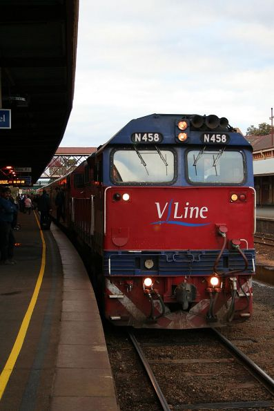 The train at Bendigo on the up