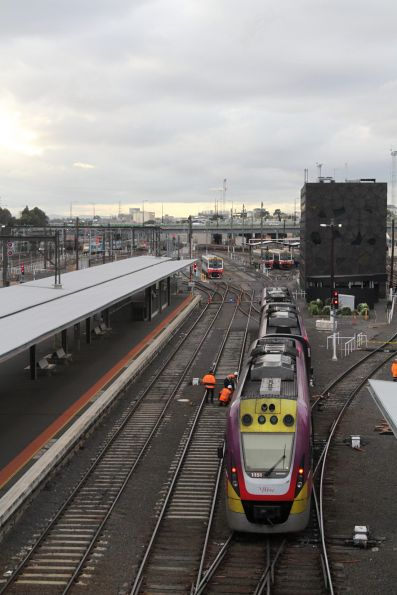VLocity VL51 derailed at the north end of Southern Cross platform 6